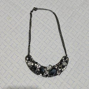 3 for 8! Vera Wang Chrome Navy Statement Necklace